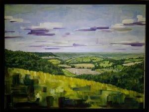As seen on Grand Designs , Jon's Cotswold landscape oil paintings.