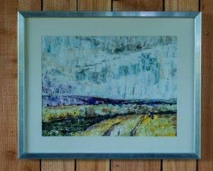 Low Cloud on Moors Oil paint on paper
