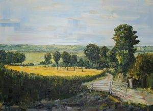 Cotswold landscape oil painting