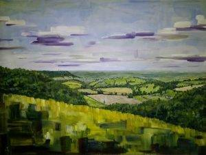 Cotswold landscape oil paintings
